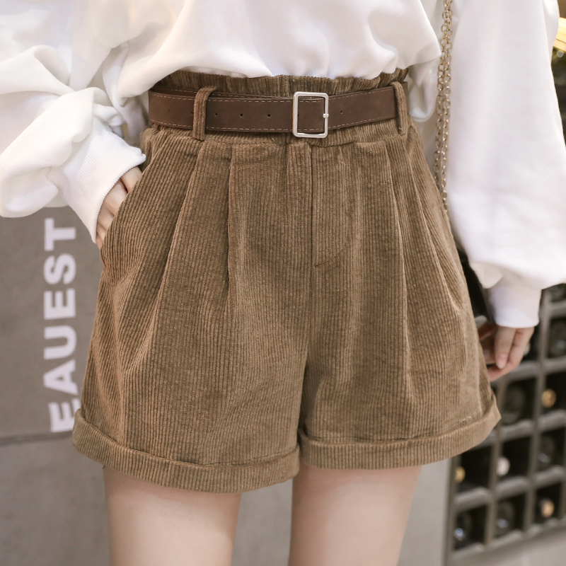 2020 Spring Summer Women Shorts Elegant Wide Leg Loose Beige/Brown/Black Trouser Casual Pockets High Waist Shorts For Female New|Shorts| - AliExpress