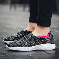 Women's Running Shoes Mesh Breathable Light Outdoor Sports Shoes Ladies Vulcanized Sneakers Female Slip on Lazy Shoes Footwear