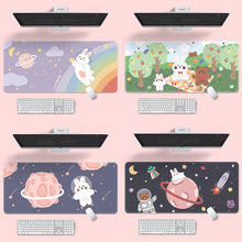 1pc Cute Mouse Pad Creative Game Computer Keyboard Long Table Mat Kawaii Desk for Teen Girls Mouse Pad  Bedroom Office Supplies