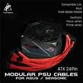 FormulaMod Fm-HS-W  18AWG ATX 24Pin полностью модульные PSU ткацкие кабели  для Asus THOR & seseasfocus/Prime Series модульные PSU