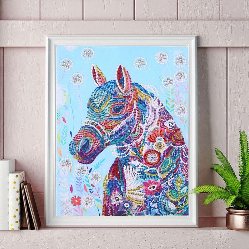 Купить с кэшбэком 5D Horse DIY Special Shaped Diamond Painting Diamond Embroidery Cross Stitch