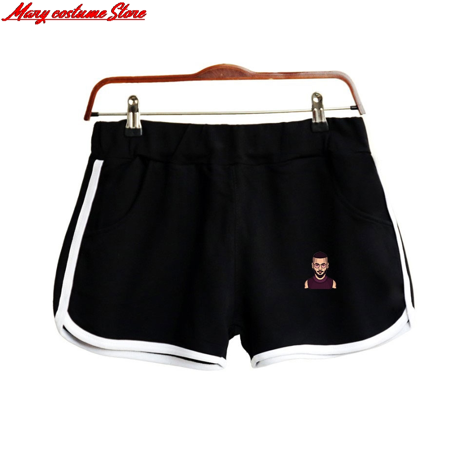 Maluma Women Polyester Shorts Kpop Fashion Street Shorts 2019 Hot Ladies Fashion Casual Summer Shorts