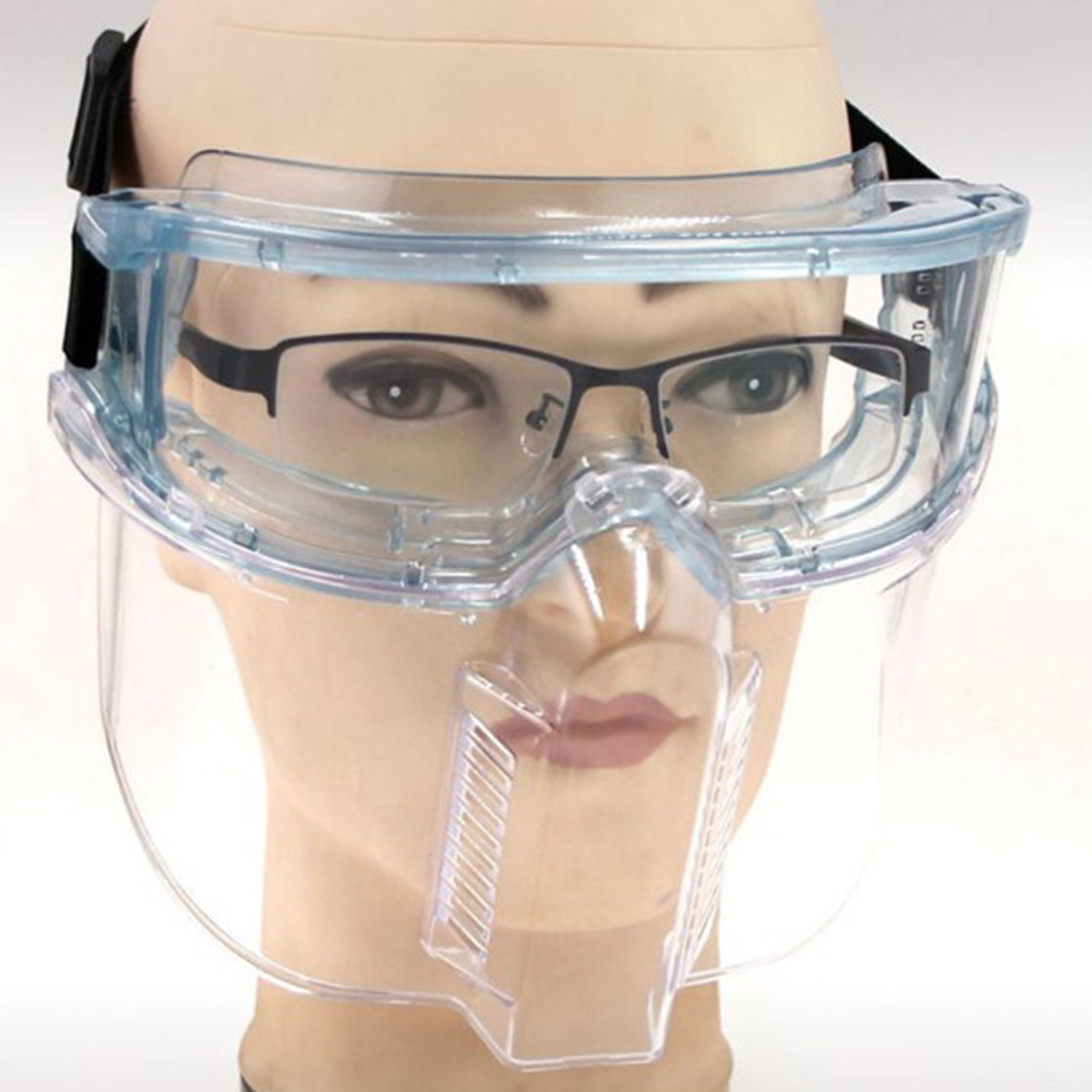 Anti-Spread Droplets Sponge Transparent Anti-Dust Goggles Respirator Pm2.5 Multi-Purpose Protection Full Face Masks Kits