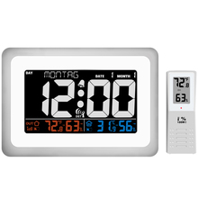 Digital Wireless Weather Station Alarm Clock Indoor Outdoor Temperature Thermometer Humidity Hygrometer Sound-Control Backlight стоимость