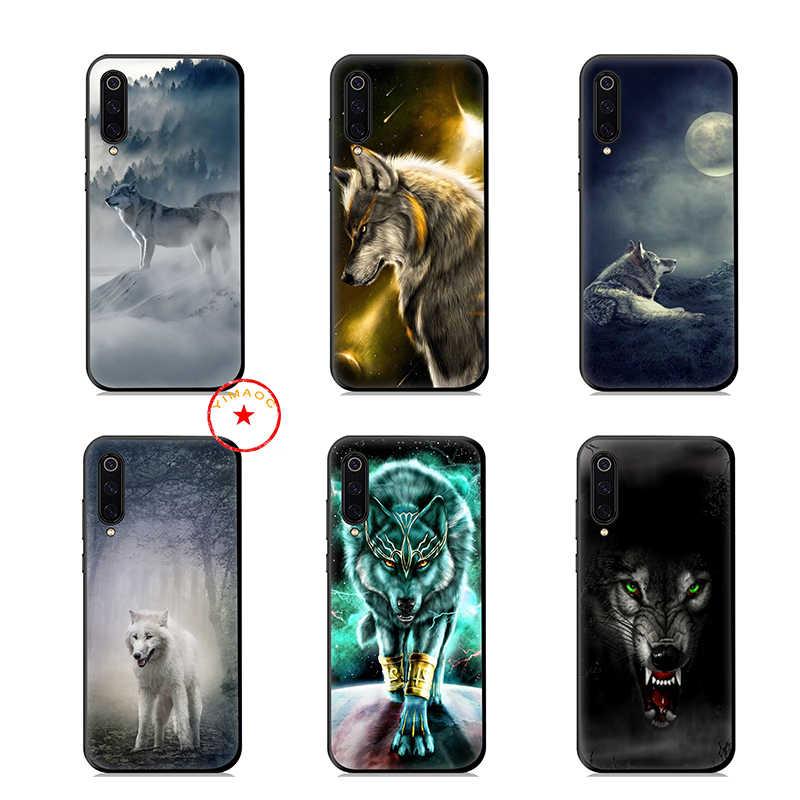 Serigala Hewan Salju Soft Case untuk Xiao Mi Mi A1 A2 A3 8 9 Se Lite 9T PRO Mi a3 Max 3 Mi A1 Mi A2 Mi A3 Pocophone F1