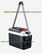 10L AC i DC12V termoelektryczny Cooler i cieplej zamrażarka przenośny Mini lodówka lodówka samochodowa lodówka samochodowa lodówka kempingowa Box tanie tanio world cool Rohs Zużytego sprzętu elektrycznego i elektronicznego CN (pochodzenie) 16 73inch 12 v 8 66inch 3 8kg 12 2inch