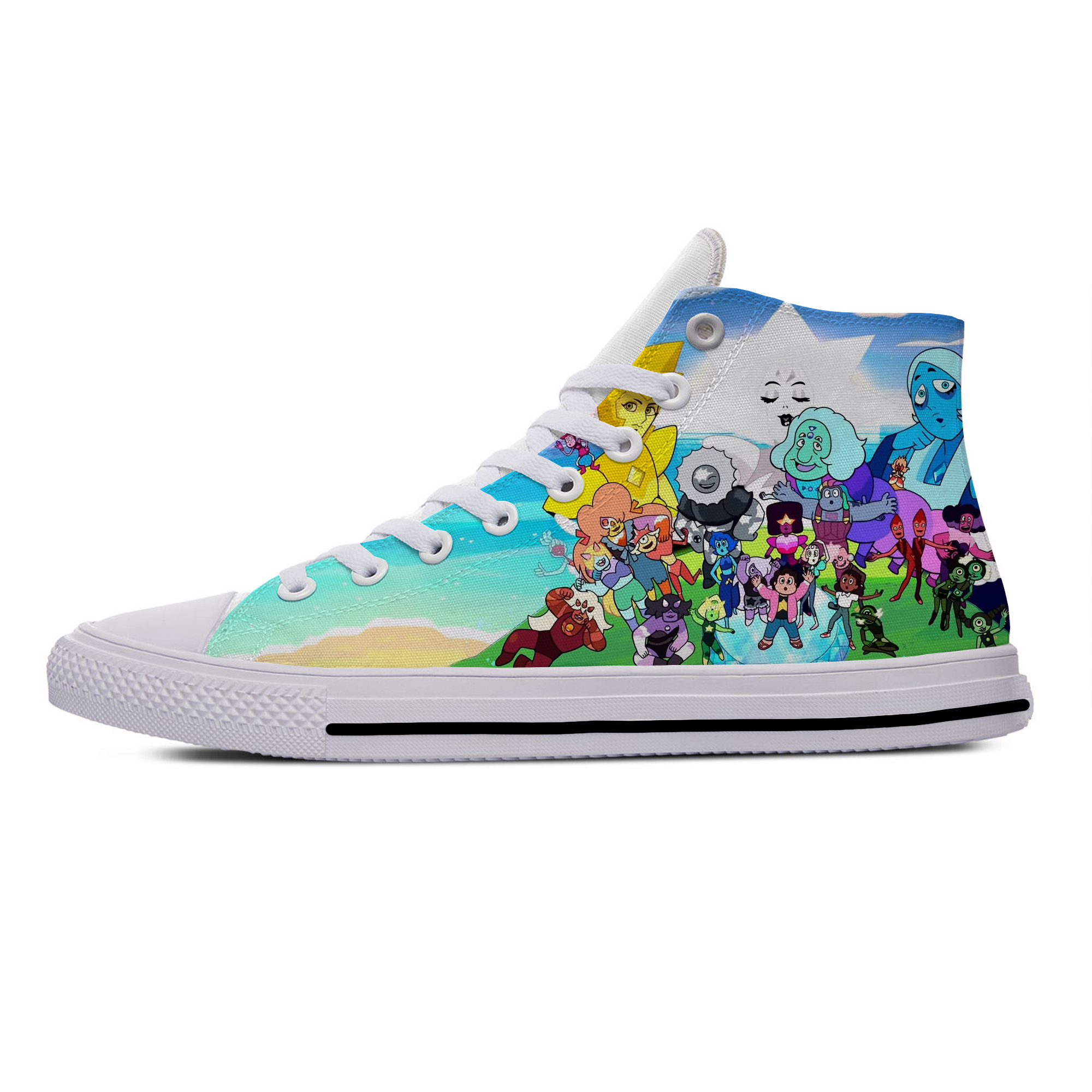 2020 Steven Universe Anime Cartoon Funny Popular Casual Canvas Shoes High Top Lightweight Breathable 3D Print Men Women Sneakers