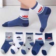5 pares/lote crianças meias meias no outono e inverno meninos e meninas chão meias dos desenhos animados crianças meias do bebê primavera moda