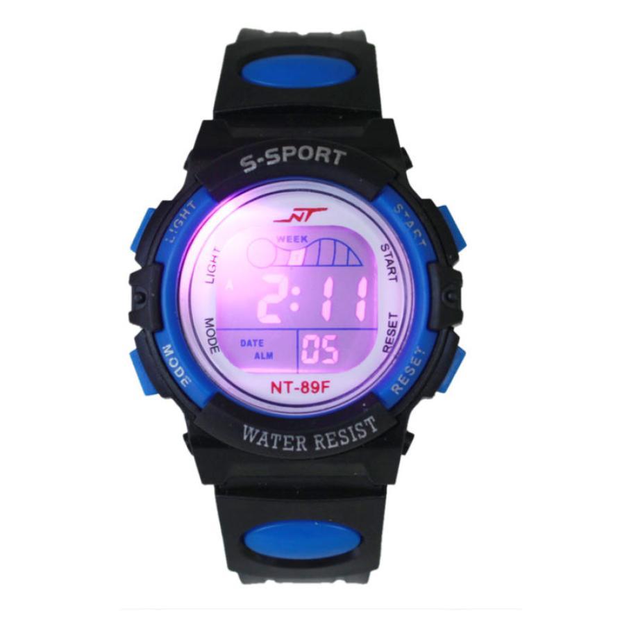 OTOKY2019 New LED Light Watch Girl Boy Alarm Date Digital Multifunction Sport Wrist Watch Dropshiping