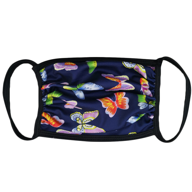 Fashion trend dustproof skin-friendly washable breathable mask Anti-fog and anti-dust PM2.5  cotton Multicolor Adult General 2