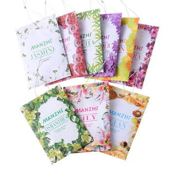3 Pack Natural Spices Aromatherapy Bag Cabinet Deodorizing Paper Bag Sachet portable Hanging Air Fresheners Fragrances For Home image