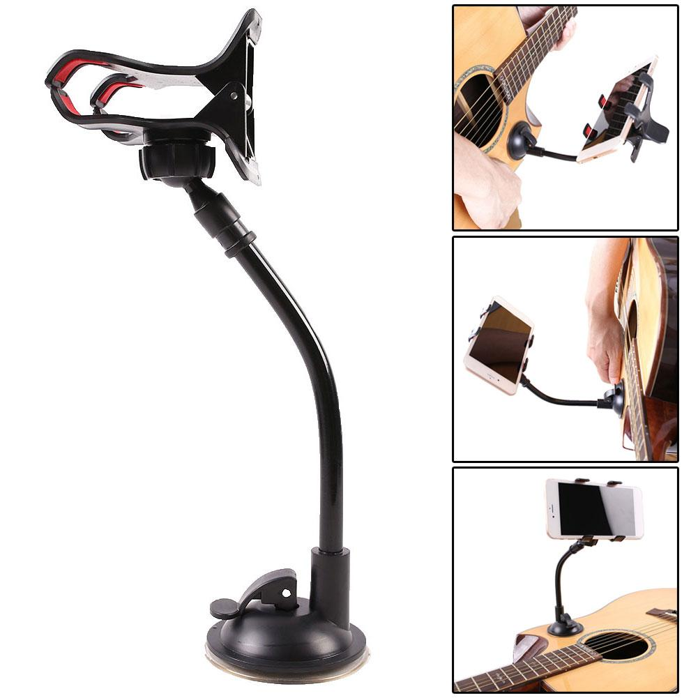 2020 New Arrivals Suction Cup Rotatable Mobile Phone Holder Clamp Stand Bracket For Guitar Bass