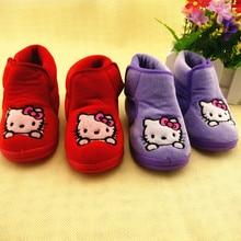 Koovan/Новинка года; детская обувь с рисунком котенка; обувь принцессы с мягкой подошвой для первых шагов; ботинки для мальчиков и девочек; детская обувь; Теплая обувь для малышей