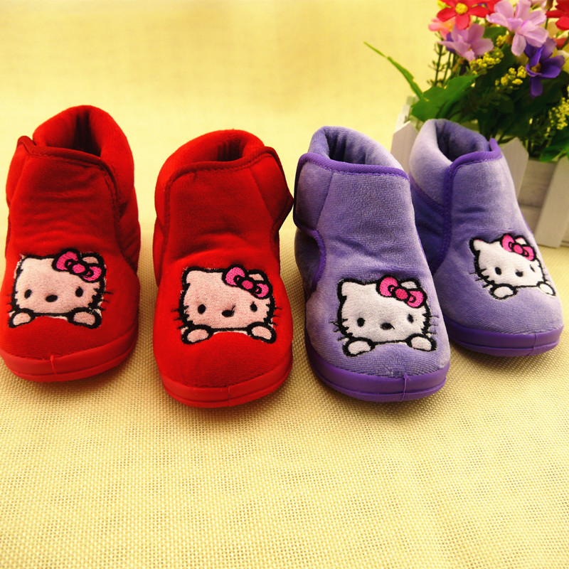 Koovan 2020 New Kitty Cat Baby's Shoes Soft Bottom Princess First Walker Girls Boys Boots Children's Shoes Warm Toddler