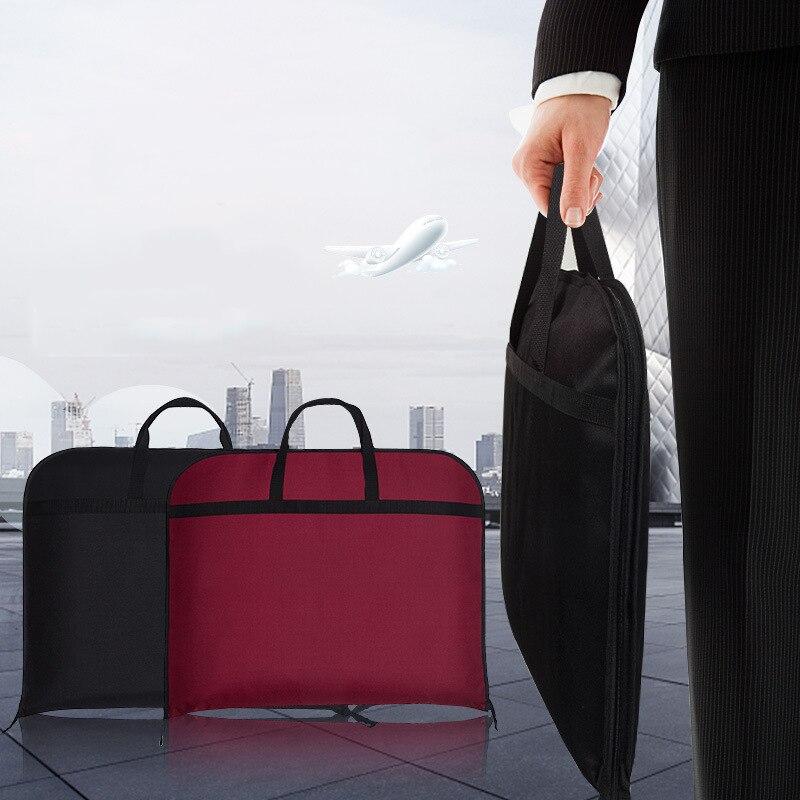 Portable Waterproof Business Suit Storage Bag Wardrobe Travel Organizer Garment Dust Cover Home Dustproof Zipper Case Accessorie