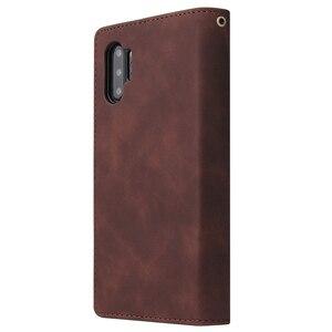 Image 5 - Pu leder telefon fall Für Samsung note9 note10 note10pro note10lite note20 Vollständig geschlossenen schutz Brieftasche funktion paket