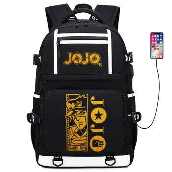 JoJo's Bizarre Adventure Gold Print Girl School Bagpack Large Travel Backpack Oxford School Bags for Teenage Girls Anime Bookbag
