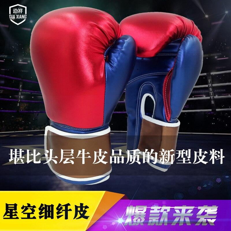 Gants De boxe pour hommes femmes PU karaté Muay Thai Guantes De Boxeo combat gratuit MMA Sanda entraînement adultes enfants équipement