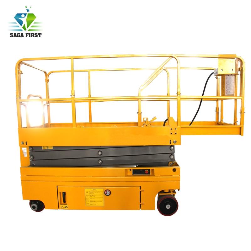 14m Self Propelled Battery Powered Scissor Lift Battery Man Lift Platforms Automatic Working Platform