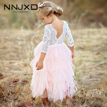 Vestidos Girls Winter Dress 2020 Brand Backless Teenage Party Unicorn Princess Dress Children Costume for Kids Clothes Pink 3-8T