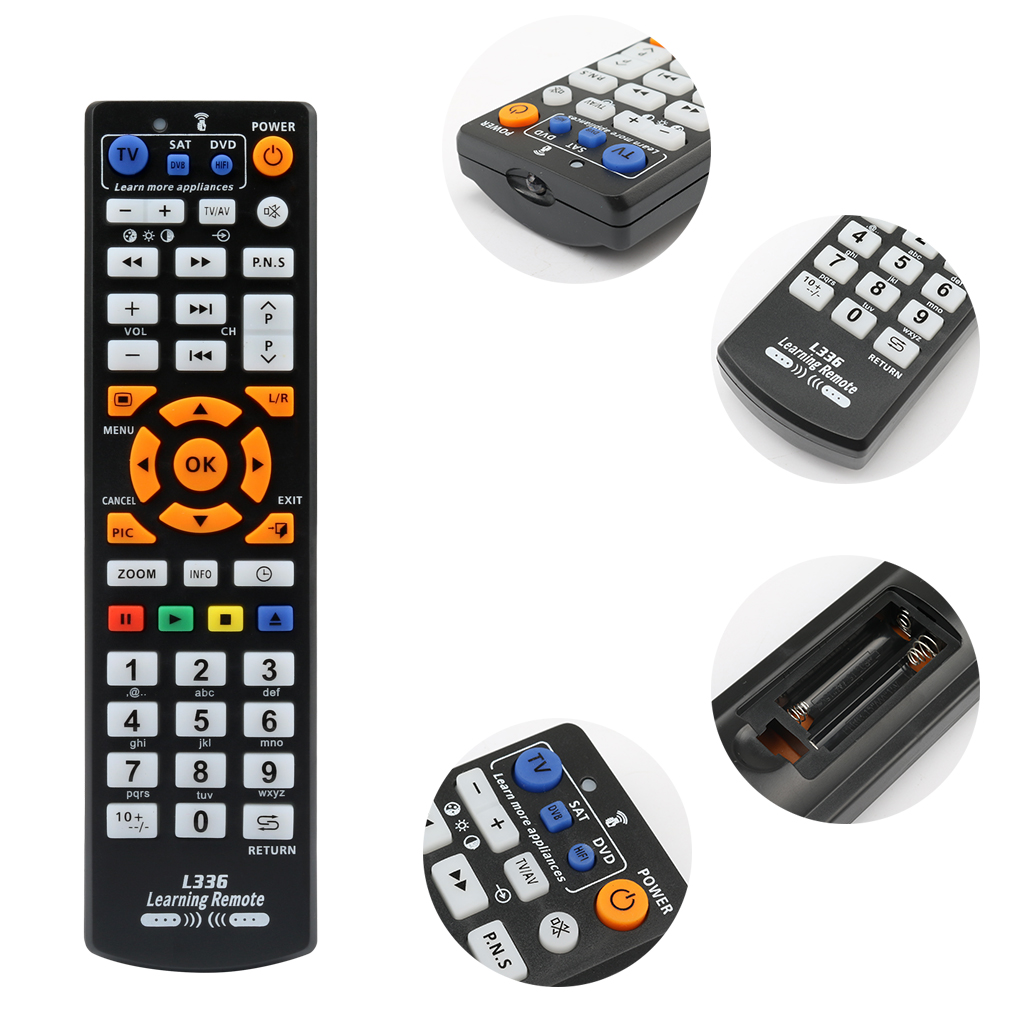 Image 2 - Universal Smart IR Remote Control with learn function, 3 pages controller copy for TV STB DVD SAT DVB HIFI TV BOX, L336-in Remote Controls from Consumer Electronics