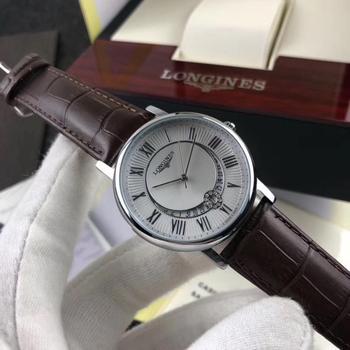 Longines- new fashion round watch men\'s waterproof calendar sports leisure quartz watch trend personality student watch gift 26