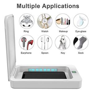 Disinfection Machine Portable UV Sterilizer Cellphone Face Mask Disinfection Sterilizer Box Dual UV Lights for Small Items