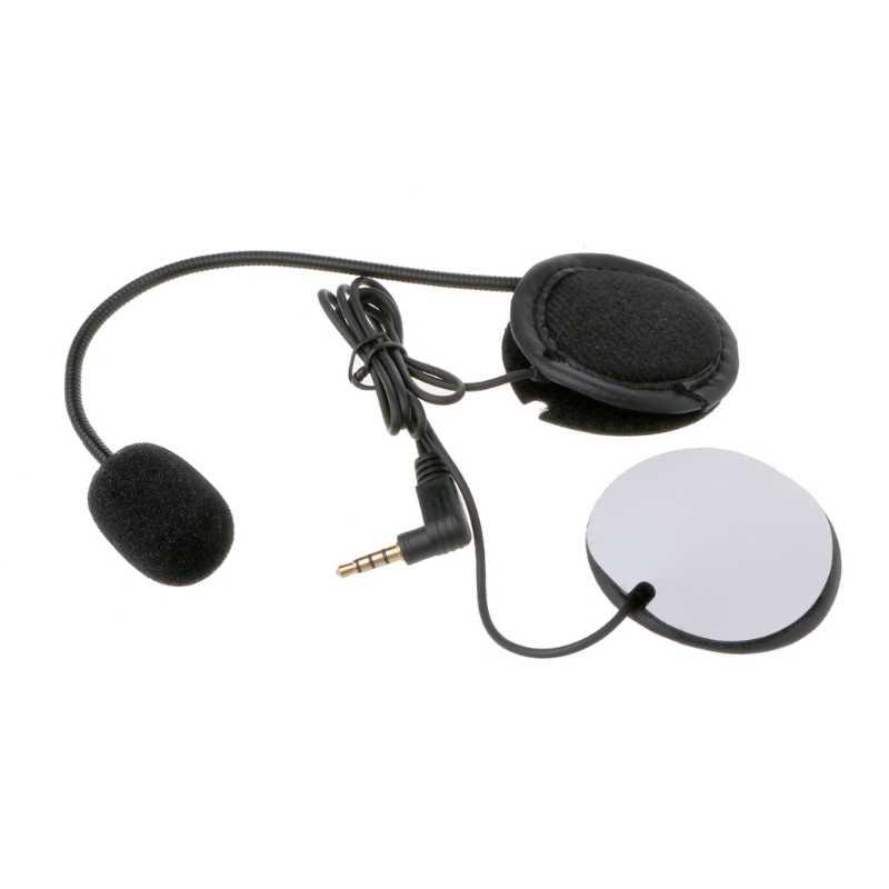 Микрофон динамик мягкий кабель аксессуар для гарнитуры для мотоциклетного шлема Bluetooth домофон Работает с любым 3,5мм-штекер