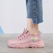 Hot Sale Fashion New Women Sneakers Breathable Mesh Woman Casual Flat Shoes Ladies Vulcanize Pink Black White D0037