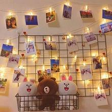 Гирлянды с гирляндой для карт, зажим для фото, 2 м, 4M, 6 м, люстра, лампа-вспышка, Рождественское украшение для дома, улицы, гостиной