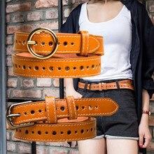 Correa Hombre Women Belts PU Lether Strap Male Vintage Women's Belt Pin Buckle Designer Waist Band Jeans Dress Accessories