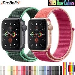Band Für Apple Uhr Serie 3/2/1 38MM 42MM Nylon Weiche Atmungsaktive Ersatz Strap Sport schleife für iwatch serie 4 5 40MM 44MM