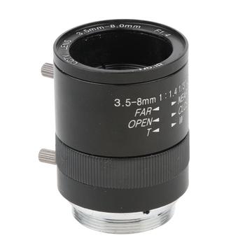 1 3 #8221 3 5-8mm F1 4 1MP CS do montażu na ręczny Zoom obiektywy kamery przemysłowej dla kamera ccd tanie i dobre opinie MagiDeal