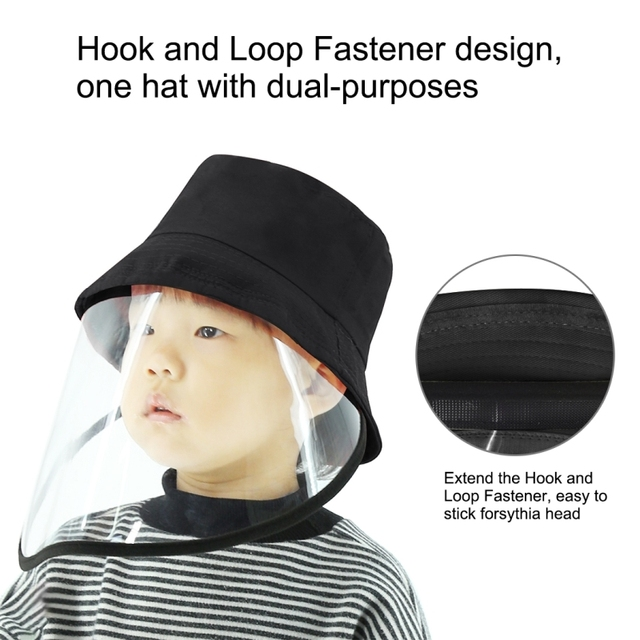 Children's anti-spray fisherman hat Anti-Saliva Goggle Anti-Spitting Anti-Fog Protective Cap Kids Fisherman Hat Face Shield 4
