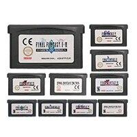 32 بت لعبة فيديو خرطوشة بطاقة وحدة التحكم النهائية فانتاس سلسلة الولايات المتحدة/الاتحاد الأوروبي الإصدار لنينتندو GBA