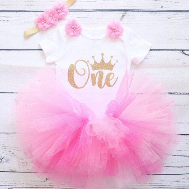 1 año ropa de niña unicornio fiesta vestido para niñas con tutú recién nacido niñas 1er cumpleaños trajes de niñas pequeñas ropa de Boutique
