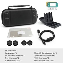 For Switch Lite Mini Portable Durable Protective Storage Bag 10 In One Suit With Joystick Cap Case
