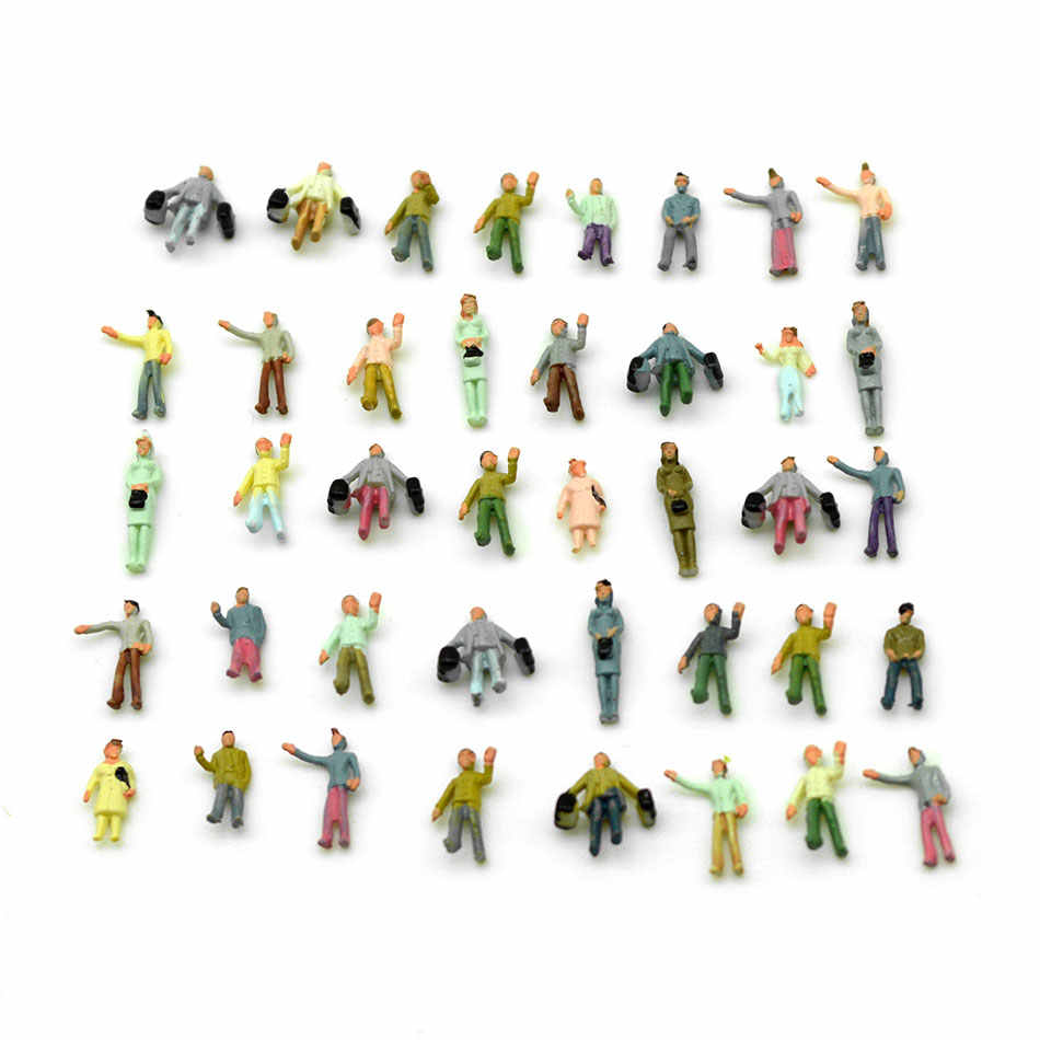 US 100PC 1:300 Scale Painted People Figures Model Train DIY Building Layout