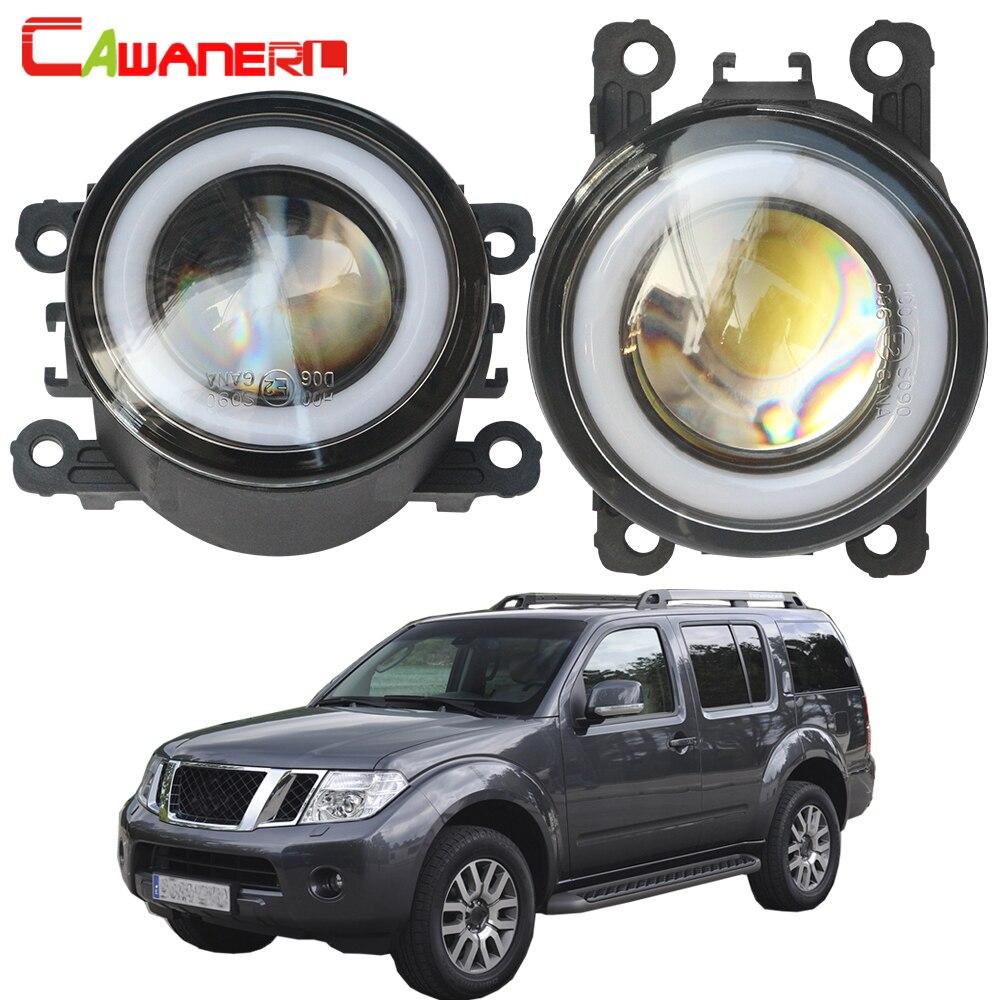 Cawanerl pour Nissan Pathfinder R51 2005-2012 voiture LED antibrouillard ange oeil jour lampe DRL H11 3000LM 12V accessoires