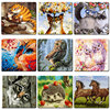 PaintEveryday Acrylic Paintings By Numbers Animals Oil Painting Handmade Creative DIY Paintings Children Picture Fast Shipping