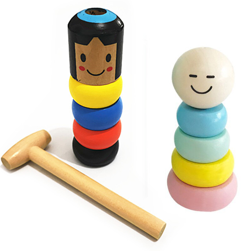 1set Unbreakable Wooden Man Magic Toy Magic Tricks Close Up Stage Magic Props Comedy Mentalism Fun Toy Accessory image