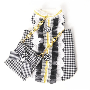 Image 3 - Cat Dog Clothes Bag Set Pet Dress Vest Luxury Pearl Decoration Classic Camellia Puppy Clothes for Dog Small Meduim Dog Chihuahua