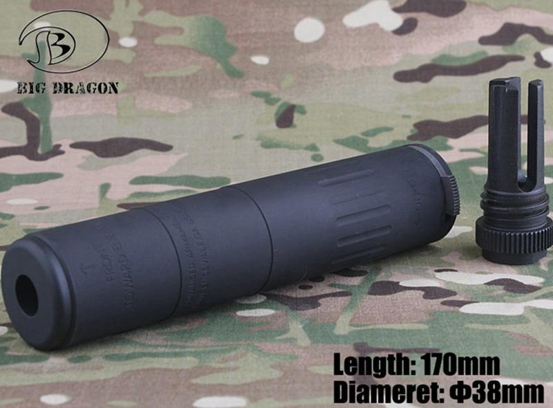 2019 grande dragon aac M4-2000 silenciador deluxe cnc e anodize processo