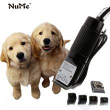Elektryczne maszynki do strzyżenia sierść psa profesjonalne maszynki do strzyżenia narzędzia do pielęgnacji psów akumulatorowe maszynki do golenia kotów maszynka do włosów sierść psa maszynka do strzyżenia ue tanie tanio nume 19*5*5CM NM-GTS888 black 110V 240V electric titanium + ceramics Matte metal+Pear wood pet dog Cattle horses rabbits