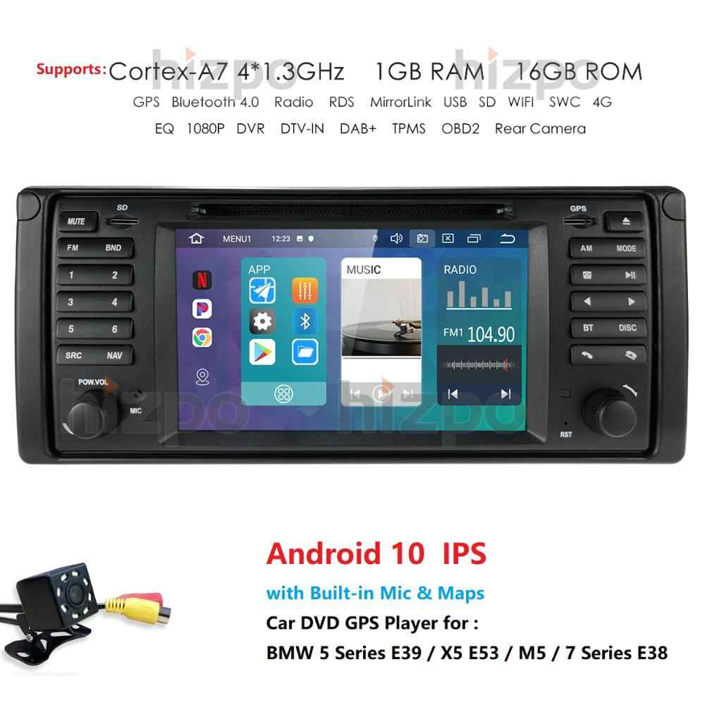 Android 10.0 4G 64G Car DVD PLAYER untuk BMW X5 E53 E39 GPS Stereo Navigasi Audio Multimedia Layar kepala Unit Rds Fm Dvr Obd2