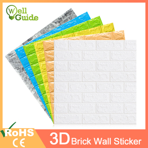 3D Wallpaper DIY Waterproof Wall Stickers Marble Sticker 70cm*77cm 3d wall panels for living room 3D Brick Stone Wall Papers