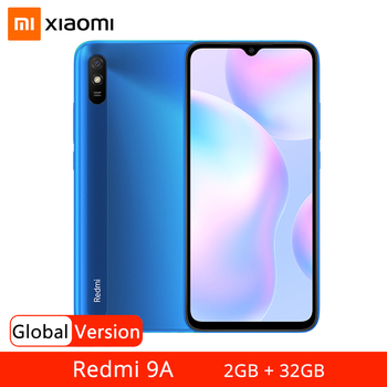 "Global Version Xiaomi Redmi 9A 9 A 2GB 32GB Smartphone MTK Helio G25 Octa Core 6.53"" Display 5000mAh Battery 13MP AI Rear Camera"