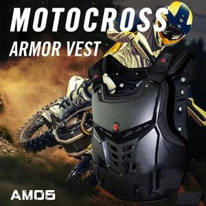 Image 5 - Scoyco Motorfiets Armor Vest Motorfiets Bescherming Motor Borst Terug Protector Armor Motocross Racing Vest Beschermende Kleding