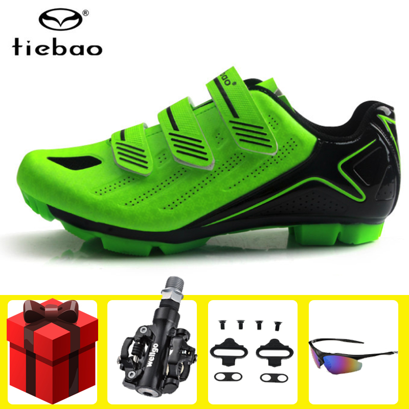 Tiebao Cycling Shoes men sapatilha ciclismo mtb SPD pedals set sneakers Men Mountain Bike Outdoor chaussure vtt Bicycle Shoes