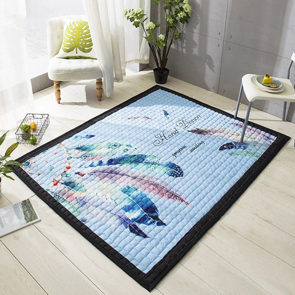 Baby Play Mats 145X195CM Large Carpet 1.5CM Thick Cartoon Anti-skid Blanket Living Room Yoga Rugs